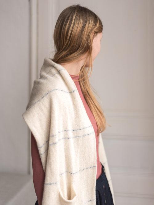 sjaal ecru alpaca